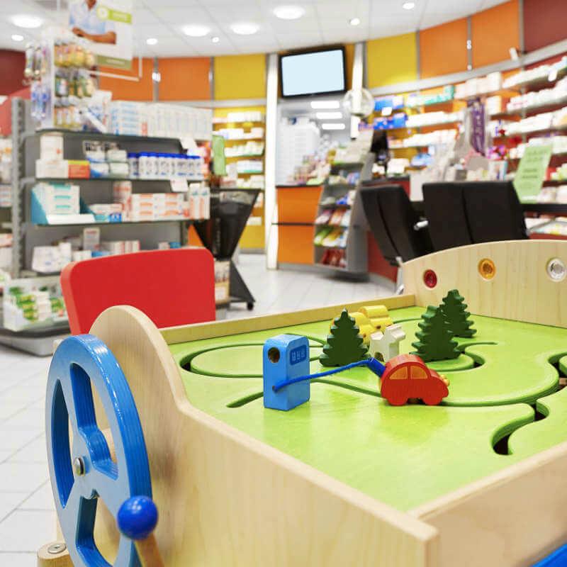Spielecke in der Europa Apotheke Leipzig