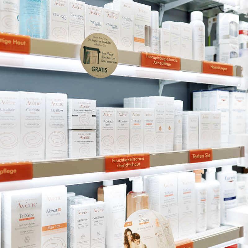 Kosmetikdepot in der Europa Apotheke Leipzig